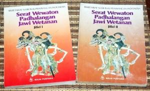 Soenarto Timoer: Serat Wewaton Pedhalangan Jawi Wetanan, Jilid 1-2
