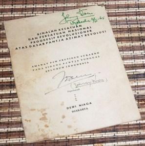 Sukarno: Binalah Kesatuan dan Persatuan Nasional