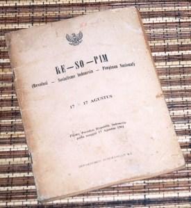 Sukarno: Re-So-Pim, Cetakan I