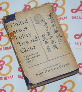 United States Policy Toward China