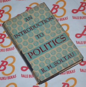 R.H. Soltau: An Introducing to Politics, Cetakan V