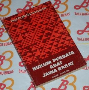 Rd. Soepomo: Hukum Perdata Adat Jawa Barat