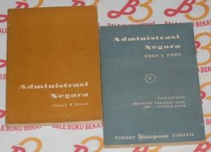 Marshall Edward Dimock & Gladys Ogden Dimock: Administrasi Negara I-II