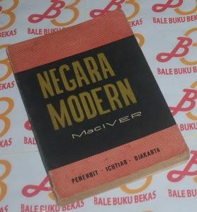 R.M. Mac Iver: Negara Modern, Cetakan 1962