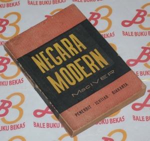 R.M. Mac Iver: Negara Modern, Cetakan 1965