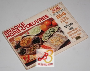 Snacks Hors-D'oeuvres, East and West Cookery Cards