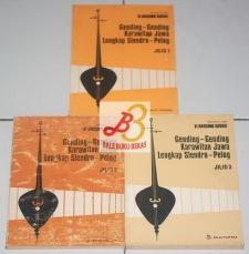 HARGA: RP142.000 (TAK DIJUAL TERPISAH Jilid 1 Judul: Gending-Gending Karawitan Jawa Lengkap Slendro-Pelog, Jilid 1 Penyusun: Ki Harsono Kodrat (Berdasarkan dokumentasi R.M.L. Kodrat Purbapangrawit) Bahasa: Indonesia Kulit Muka: Soft Cover Tebal: 116 Halaman Dimensi: 15 x 21 Cm Penerbit: PN Balai Pustaka, Jakarta Tahun: Cetakan Pertama, 1982 Kondisi: Bagus (Sedikit grepes di beberapa sisi cover.) Stok: 1 Jilid 2 Judul: Gending-Gending Karawitan Jawa Lengkap Slendro-Pelog, Jilid 2 Penyusun: Ki Harsono Kodrat (Berdasarkan dokumentasi R.M.L. Kodrat Purbapangrawit) Bahasa: Indonesia Kulit Muka: Soft Cover Tebal: 160 Halaman Dimensi: 15 x 21 Cm Penerbit: Perum Penerbitan dan Percetakan Balai Pustaka, Jakarta Tahun: Cetakan Pertama, 1986 Kondisi: Cukup Bagus Stok: 1 Jilid 3 Judul: Gending-Gending Karawitan Jawa Lengkap Slendro-Pelog, Jilid 3 Penyusun: Ki Harsono Kodrat (Berdasarkan dokumentasi R.M.L. Kodrat Purbapangrawit) Bahasa: Indonesia Kulit Muka: Soft Cover Tebal: 252 Halaman Dimensi: 15 x 21 Cm Penerbit: Perum Penerbitan dan Percetakan Balai Pustaka, Jakarta Tahun: Cetakan Pertama, 1986 Kondisi: Bagus Stok: 1